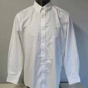 Nordstrom Button Front Dress Shirt XL White Formal